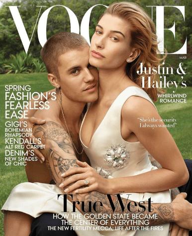 Justin Bieber and Hailey Baldwin cover Vogue magazine