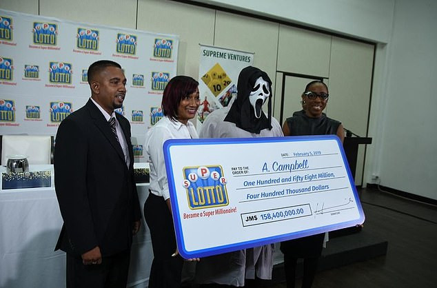 Lottery Winner Wears Mask To Claim His Money So He Wont Be Recognised By Money-Hungry Relatives