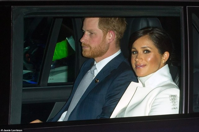 Beaming Meghan Markle steps out with Prince Harry for a gala in first appearance since her father leaked her letter