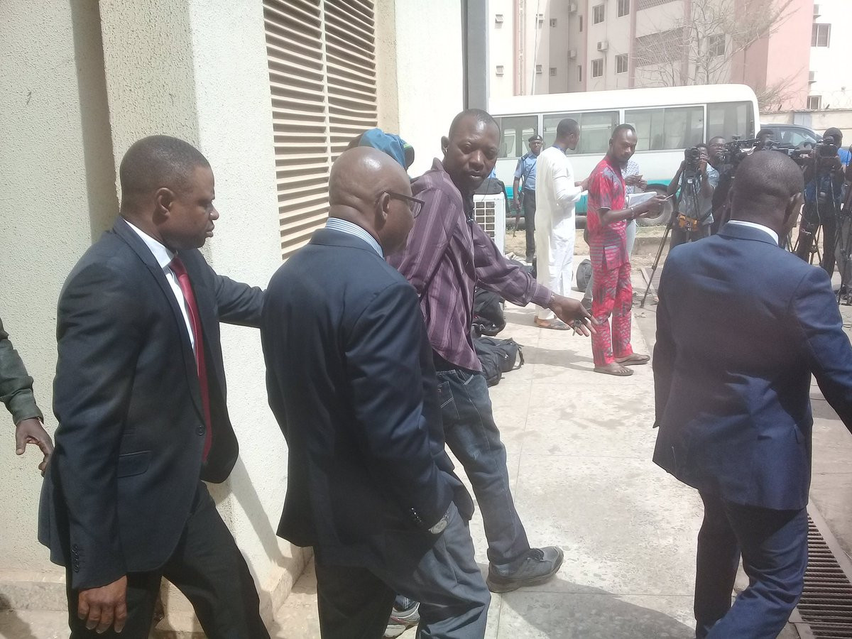 Photo: Onnoghen pleads not guilty to all charges, granted bail on self recognition