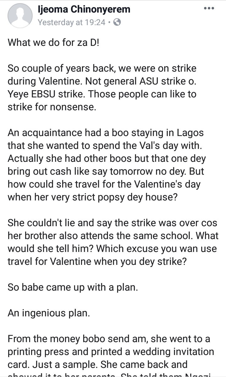 Woman came up with smart plan to deceive her parents so she could travel to be with her boyfriend on Valentine