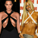 Kim Kardashian Puts Her Boobs On Display in Vintage Mugler Gown That Resembles Jodie Marsh's Iconic Boob Belt Outfit