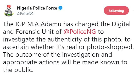 IG orders investigation into photo of police officers doing President Buhari