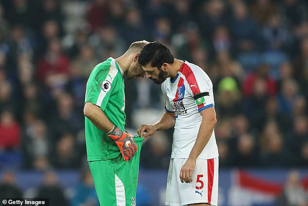 See photos of Crystal Palace defender and goalkeeper that are causing a stir online