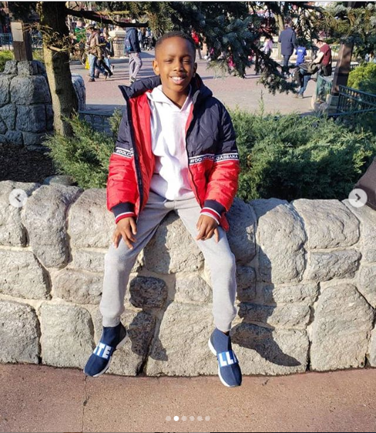 ?Odion Ighalo shares adorable photos of his wife and their children as they visit Disneyland Park (Photos)
