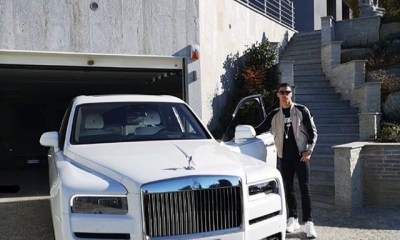 Cristiano Ronaldo shows off his new Rolls Royce Cullinan (Photo)