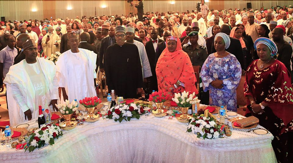 Photos: President Buhari, his wife, Aisha and children at the 2019 presidential election victory dinner