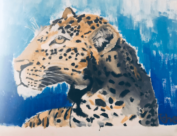 Talented 8-year-old goes viral after his paintings are shared online