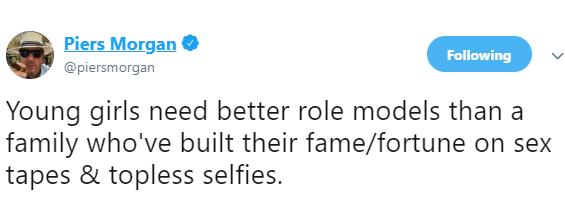 Piers Morgan slams the entire Kardashian-Jenner family