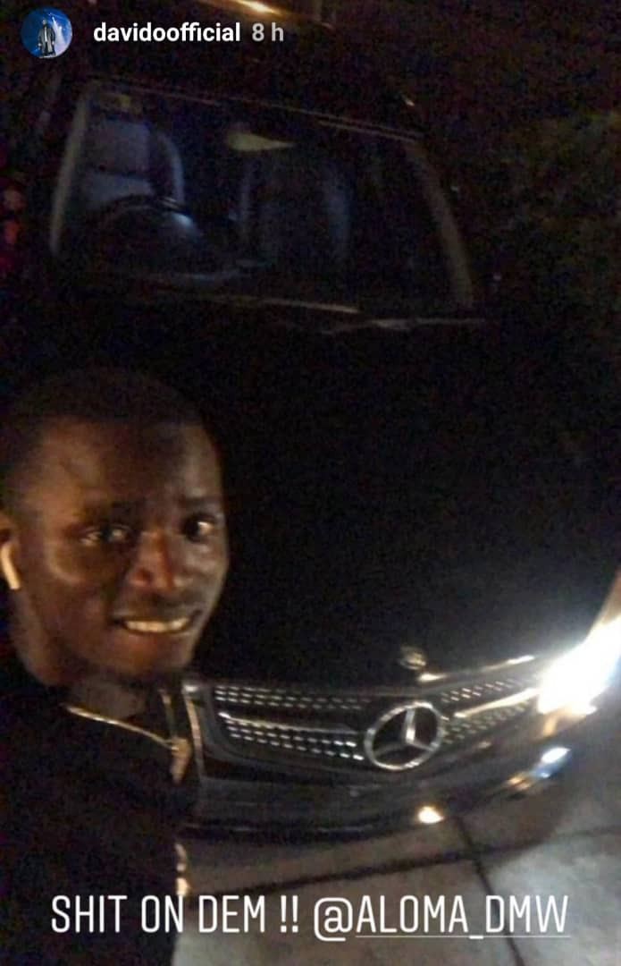 Davido buys car for his team member, says he is out to teach rich folks how to treat their people