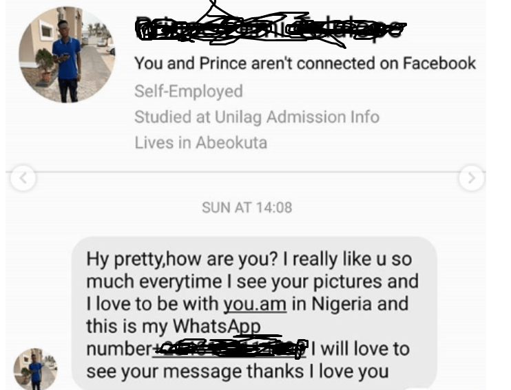 """Afia Schwarzenegger releases chats from """"male prostitutes"""" asking to have sex with her for money and most are Nigerian men"""