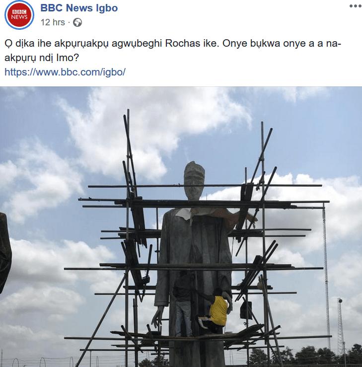 Lol. See BBC Igbo News