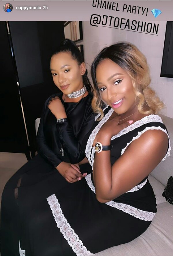 Billionaire daughter, Temi Otedola wears ?1.4 million worth of Chanel on her wrist at a party in London