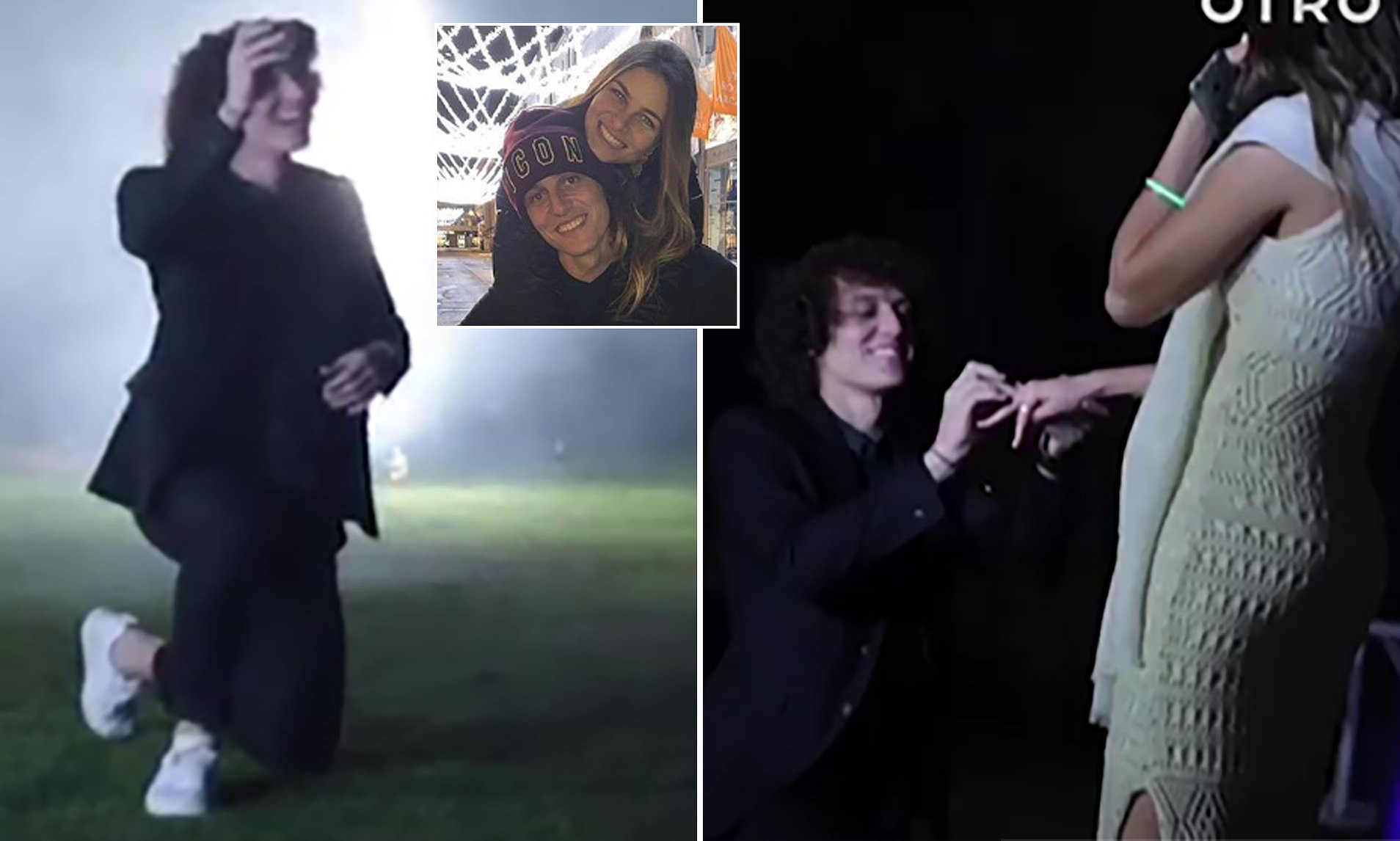 Chelsea defender David Luiz proposes to girlfriend Sara Madeira in a very special way (Video)