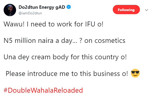 N5m claim: Ifuennada calls out OAP Dotun for mocking her on Twitter