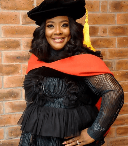 """Helen Paul celebrates as she becomes the """"first Nigerian stand-up comedian to have a Ph.D"""""""