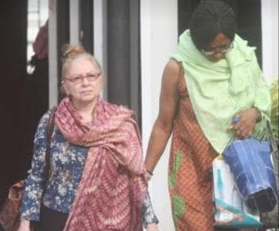 Photos: EFCC arraigns Italian woman and her Nigerian accomplice for property fraud
