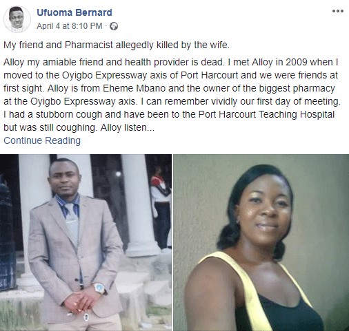 Port Harcourt woman allegedly sends thugs to beat her husband to death for slapping her