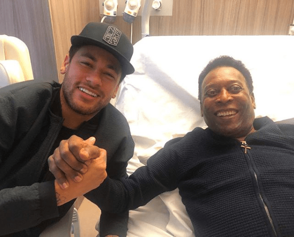 Football legend Pele released from hospital after being treated for a urinary infection in Paris (Photo)