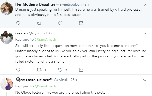 Nigerian lecturer called out on twitter after he said most First class graduates from UNILAG and other Nigerian universities cannot justify their degree