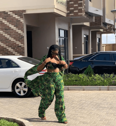 Angela okorie shows off massive cleavage in new photos