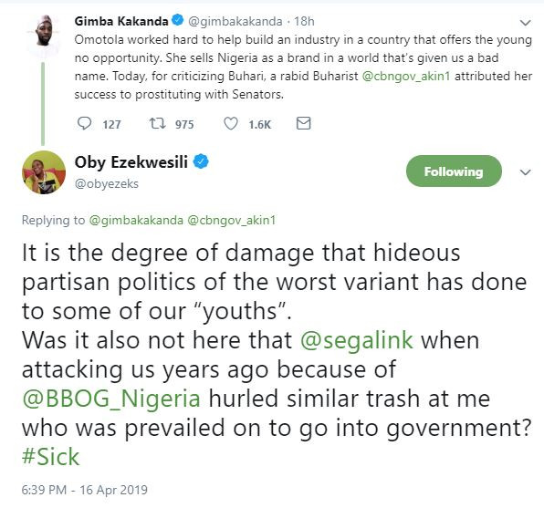 Nigerians take sides as Segalink and Oby Ezekwesili drag each other over