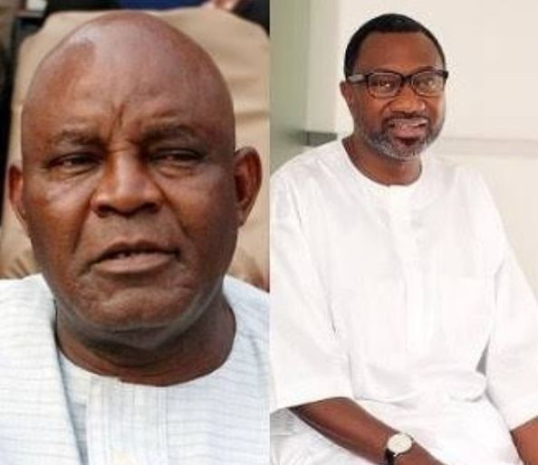 Femi Otedola presents $50,000 cheque to ex-Super Eagles coach, Christian Chukwu for foreign medical treatment