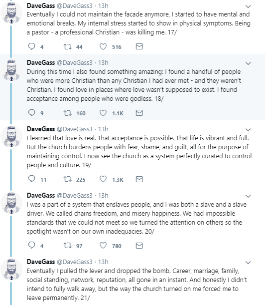 40-year-old man who had been a pastor for 20 years, denounces Christianity and gives his reasons