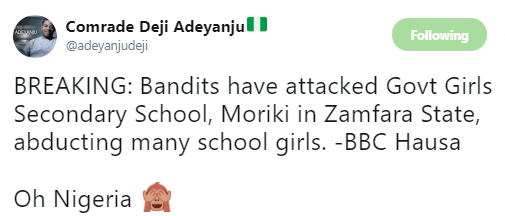 Gunmen reportedly attack Govt Girls Secondary School in Zamfara, abduct teachers and women