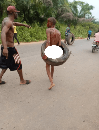 Alleged thieves stripped naked and lynched by mob in Imo state