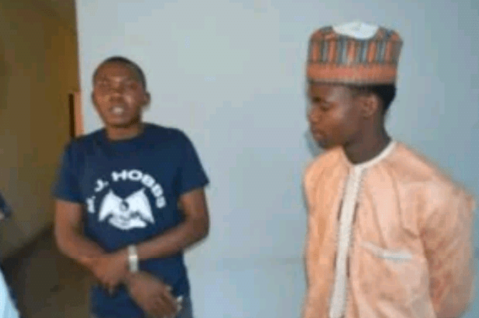 Photo: Two men desperate to travel to India arrested in Abuja for forging bank documents