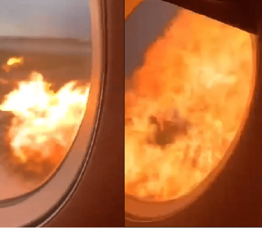 Passengers heard crying out in terror as video from inside the burning plane at Moscow airport emerges (Watch)