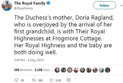 Royal fans celebrate in public after Meghan Markle gave birth to royal baby at home