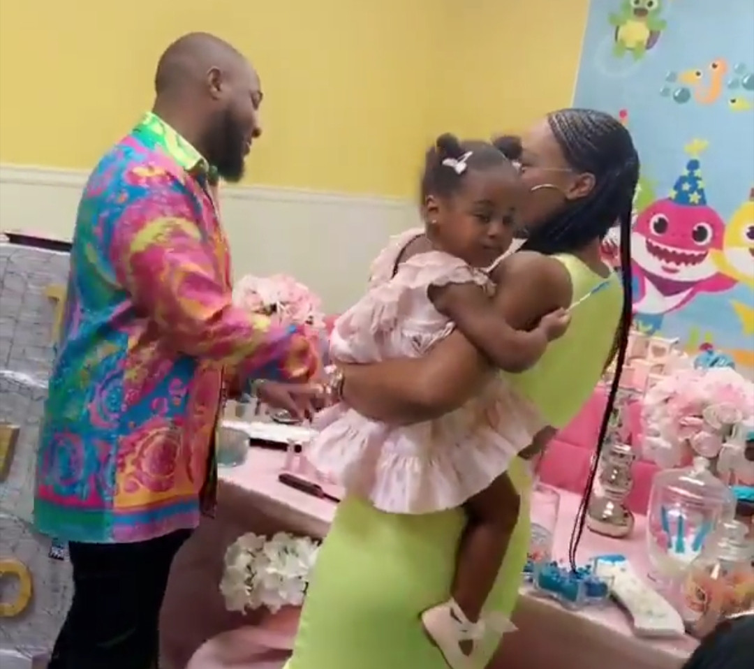 Lovely video of Davido and his second babymama dancing at their daughter