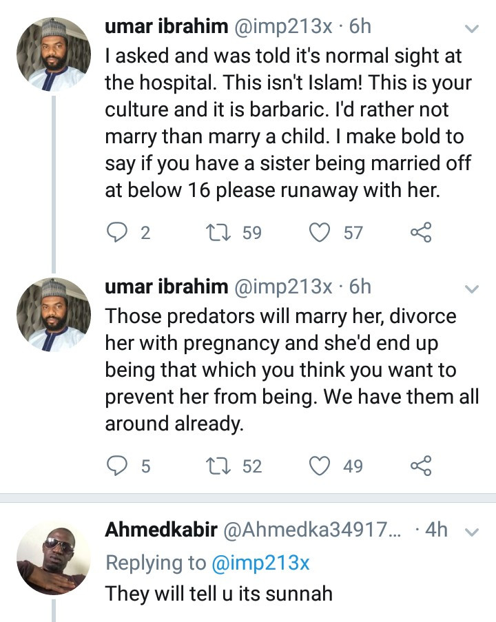 Muslim man pleads with Arewa leaders to start speaking against child marriages