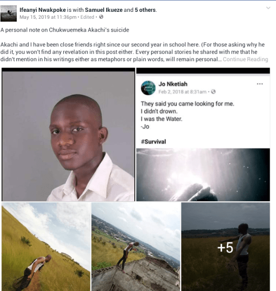 """When I called him, he smiled and walked pass me""- Close friend pens personal note on Chukwuemeka Akachi sad! niger delta university medical student commits suicide after this happened…see heartbreaking details (photos) SAD! NIGER DELTA UNIVERSITY MEDICAL STUDENT COMMITS SUICIDE AFTER THIS HAPPENED…SEE HEARTBREAKING DETAILS (PHOTOS) 5cdd44b7a1f58"