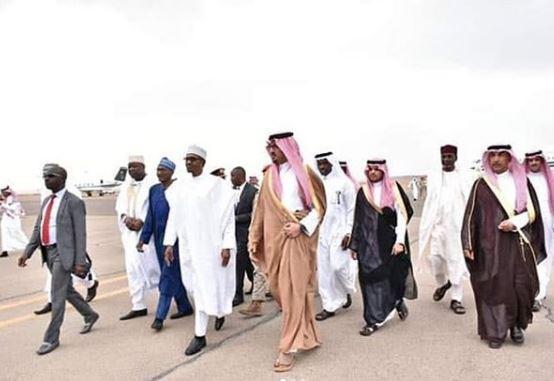 Photos: President Buhari arrives Kingdom of Saudi Arabia for Umrah