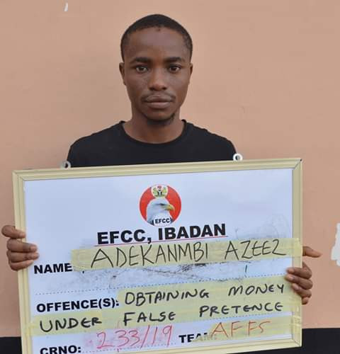 Photos: Young man all smiles as he, three others bag jail terms for internet fraud in Abeokuta
