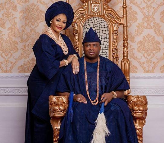 Lagos monarch,?King saheed?Elegushi celebrates 16th wedding anniversary with his first wife, Queen Aramide Sekinat (Photos)