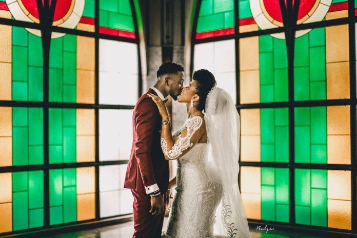 Super Eagles midfielder, Wilfred Ndidi shares lovely photos from his white wedding