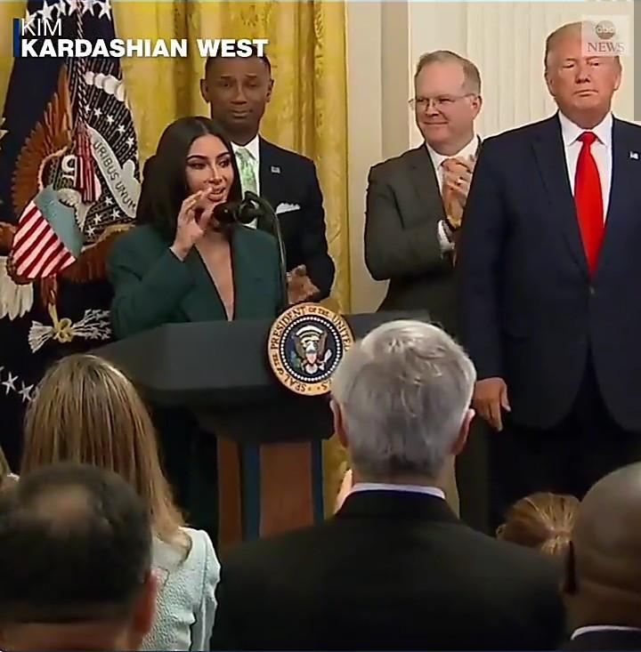 Kim Kardashian speaks at criminal justice reform event at the White House