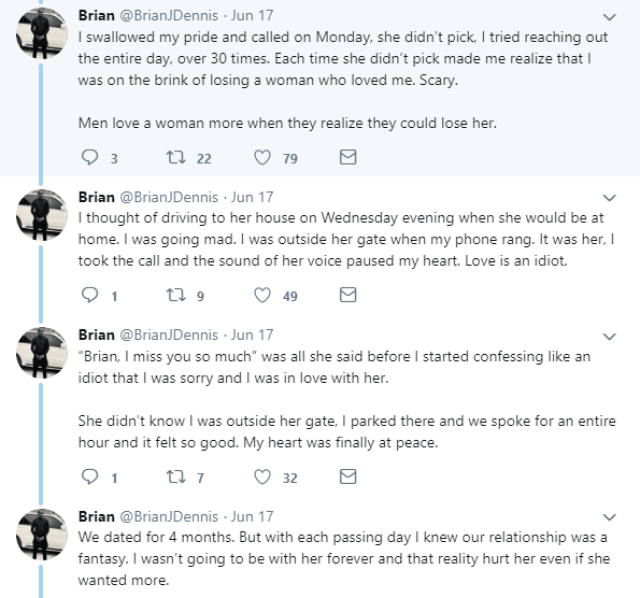 Twitter stories: Nigerian man recounts how he fell in love with a divorced mother of 4