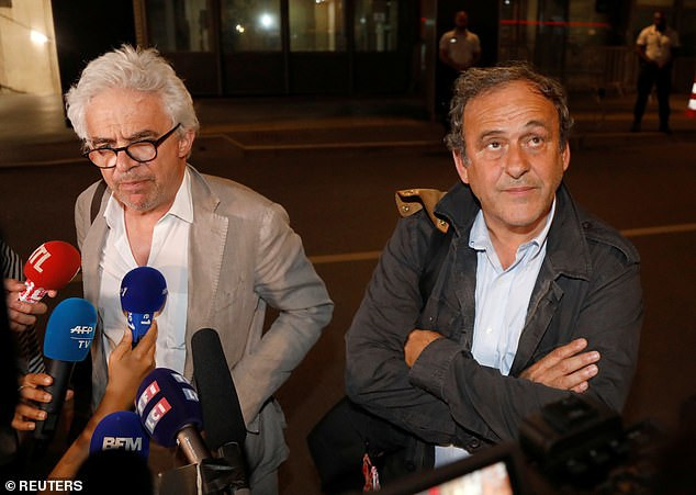 Update: Former UEFA President Michel Platini all smiles as is released from custody after arrest over corruption in football (Photos)