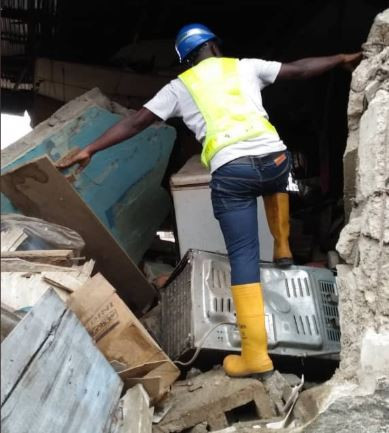 Several people injured as another building?collapses In Lagos