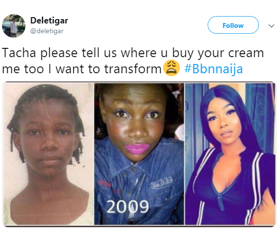 Nigerians dig up old photos of BB Naija housemate, Tacha