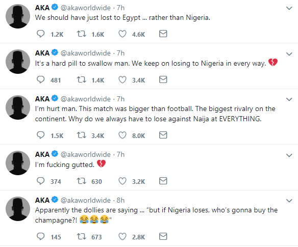 AFCON: AKA reacts to South Africa