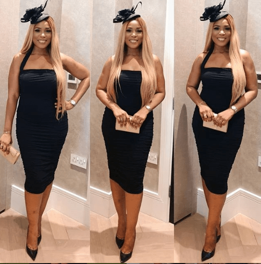 Stunning photos of Linda Ikeji at the Access Bank Polo Tournament in the UK