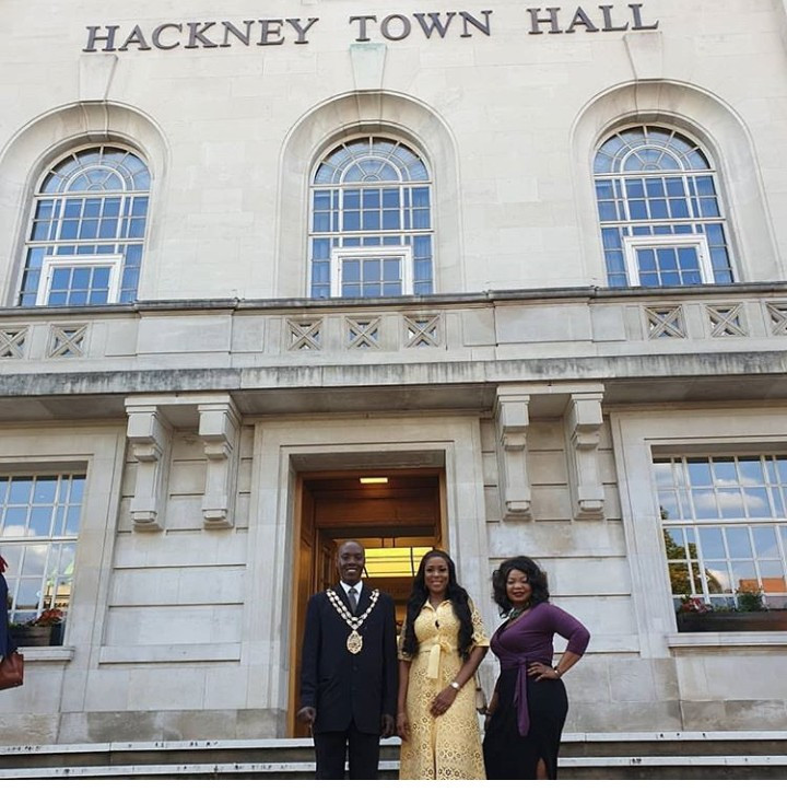 Linda Ikeji is hosted by the Speaker of Hackney and a former Speaker of Hackney in London (photos)