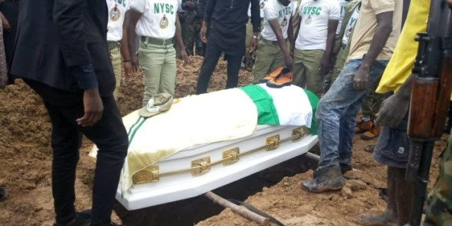 Photos from the funeral ceremony of Precious Owolabi, Corps member killed in Shiites protest