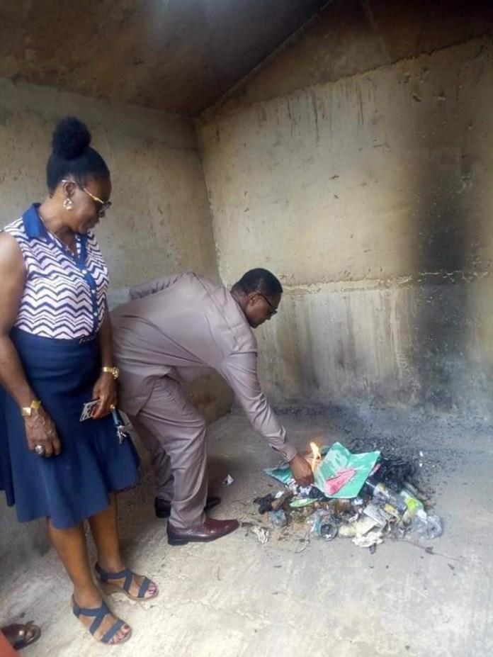 Lol! Idemili South LGA Chairman, Don Unachukwu commissions surface incinerator